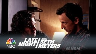Download Seth Brings Jon Snow to a Dinner Party - Late Night with Seth Meyers Video