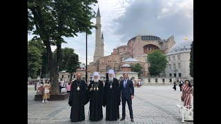 Download Делегация УПЦ посетила храм Святой Софии и патриарший храм Георгия Победоносца Video