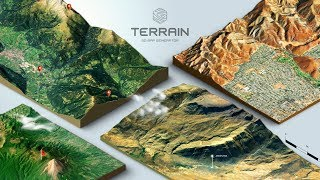 Download How to create a 3D Terrain with Google Maps and height maps in Photoshop - 3D Map Generator Terrain Video