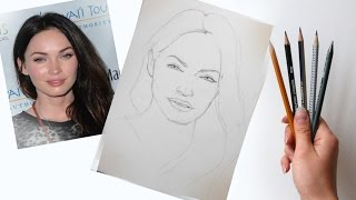 Download Как нарисовать портрет по фотографии! Часть первая Построение Пропорции лица! #Dari Art Video