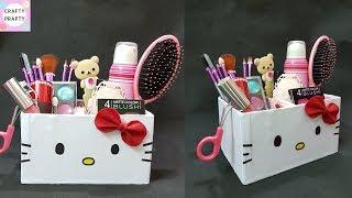 Download DIY Desk Organizer/ DIY Makeup Organizer/ Cajas organizadoras de Hello kitty/Hello kitty organizer Video