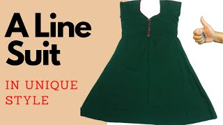 Download A लाइन सूट की आसान तरीके से सिलाई करना सीखें | How To Stitch A Line Suit | A Shape Kurti Stitching Video
