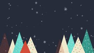 Download Merry Christmas Background with trees and snowflakes // Free Motion Graphics Video