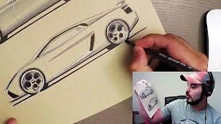 Download Sometimes You Just Gotta Sketch a Lamborghini Video