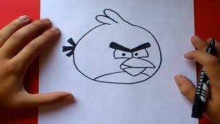 Download Como dibujar el pajaro rojo paso a paso - Angry birds | How to draw the red bird - Angry birds Video