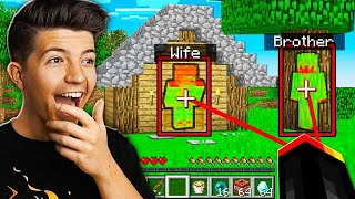 Download TROLLING MY WIFE AND LITTLE BROTHER WITH MINECRAFT HACKS IN HIDE AND SEEK! Video