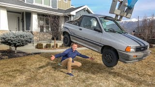 Download DESTROYING A CAR IN MY FRONT YARD! Video
