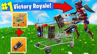 Download EXPLOSIVE *C4* SHOPPING CART STRATEGY In Fortnite Battle Royale! Video