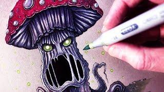 Download Let's Draw an EVIL MUSHROOM - FANTASY ART FRIDAY Video