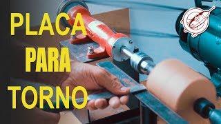 Download Torno de Madeira Caseiro - Placa de Fixação por 15 reais Video