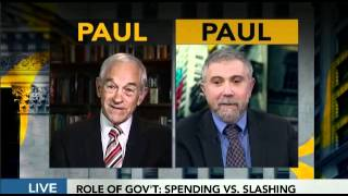 Download Ron Paul vs. Paul Krugman on The Fed & interview Bloomberg TV 4/30/12 Video