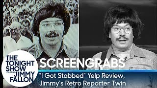 Download Screengrabs: ″I Got Stabbed″ Yelp Review, Jimmy's Retro Reporter Twin Video