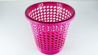 Download প্লাস্টিকের ঝুড়ি দিয়ে নাইস হ্যান্ড ব্যাগ তৈরি ...| Diy Art and Craft With Waste Basket Video