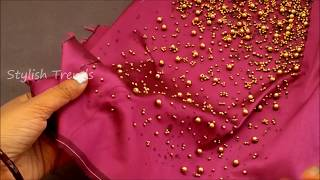 Download Easy making of Beads blouse || Latest Technique for Fashion Designers| Aari / maggam work blouse Video