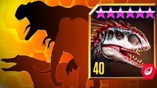 Download INDOMINUS REX Vs 27 OPPONENTS - Jurassic World The Game Video