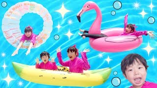 Download ★「9種類!色々な浮き輪やフロート乗り比べ!」in ラグナシア★Compare various floating rings★ Video
