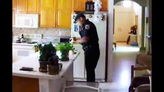 Download Security Cam Catches Police Burglar In The Act (VIDEO) Video