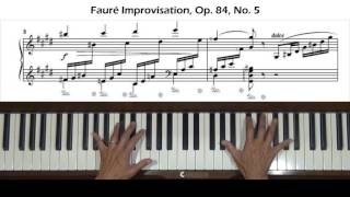 Download Faure Improvisation Op. 84, No. 5 Piano Tutorial Video