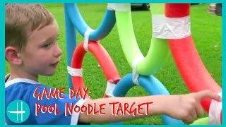 Download GIANT pool noodle target ball game backyard BALL games family fun playtime kids hopes vlogs how to Video