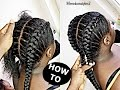 Download How To Cornrow For BEGINNERS / NEW METHOD Video