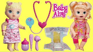 Download BABY ALIVE Snackin' Noodles Baby with LOL Surprise Dolls + MY PAL Dolls Autism Awareness Video