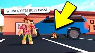 Download IF YOU WIN, I BUY YOU BOSS GAMEPASS! (Roblox Jailbreak) Video