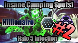 Download BRAND NEW!!! Insane Camping Spots on Halo 5 Infection   PART 2   Easy Multikills (Killionaire) Video