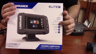 Download Lowrance Elite 5ti Open Box, Comments, and Power up Video