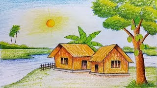 Download How to draw scenery of summer season step by step (very easy) Video