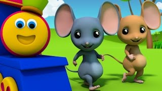 Download Bob The Train | Three Blind Mice | Nursery Rhymes | 3D rhymes | Kids Songs | Children Rhymes Video
