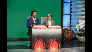 Download Matthew McConaughey Answers Ellen's 'Burning Questions' Video