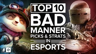 Download Top 10 Bad Manner Picks and Strats in Esports Video