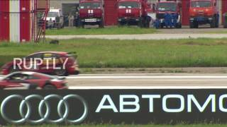 Download Russia: The race you always wanted – Watch Formula 1 racer take on MIG fighter jet Video