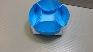 Download Daily Origami: 056 - Lazy Susan Compartment Tray Video