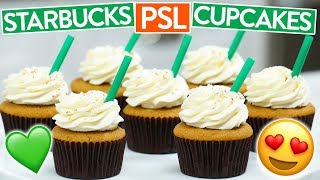 Download HOW TO MAKE STARBUCKS PSL CUPCAKES (Pumpkin Spice Latte) Video