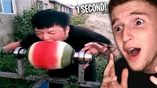 Download He Ate This Watermelon In ONE SECOND.. (Fast Eaters) Video