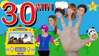 Download Daddy Five Finger Family & Wheels on the Bus Song Collection - Debbie Doo Video
