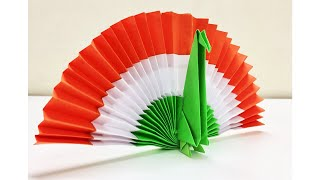 Tricolour Indian Flag Popup Card For Independence Day Greeting