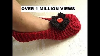Download Knitted slippers for beginners, free knitting video for unisex slippers for men or women. Video