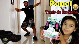 Download PAPAI ANDANDO DE TÊNIS DE RODINHA - TÊNIS DE RODINHA COM LED - EASY ROLLER - #VEDA21 Video