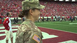 Download Army Captain surprises daughter at Wisconsin Football Game Video