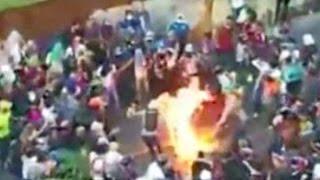 Download Maduro acusa a opositores de quemar a joven por creerlo chavista Video