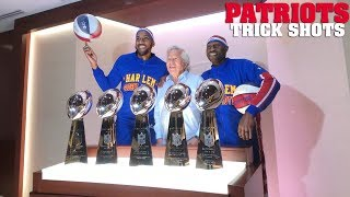 Download Trick Shots with the New England Patriots | Harlem Globetrotters Video