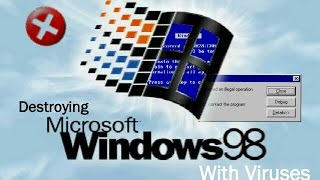 Download Destroying Windows 98 With Viruses Video