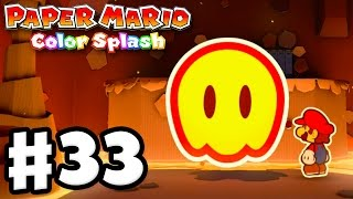 Download Paper Mario: Color Splash - Gameplay Walkthrough Part 33 - Redpepper Crater 100%! (Nintendo Wii U) Video