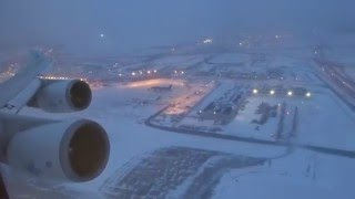 Download KLM 747-400 - O'hare to Amsterdam Takeoff After Snow Storm Video
