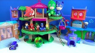Download Pijamaskeliler oyuncak koleksiyonu dönüştürme oyun seti Pj masks karargahı ağaç evi ve yarış pist Video