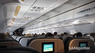 Download San Diego to Denver on a Frontier Airlines Airbus A319 Video