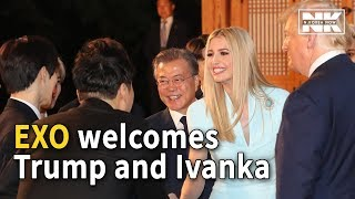 Download K-pop boy band EXO welcomes Trump and his daughter Ivanka with signed albums Video