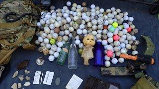 Download Creek Finds! - Stolen Wallet, Arrowhead, Bottles and a Pile of Golf Balls! | Nugget Noggin Video
